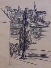 Max BECKMANN (1884-1950) - River Landscape