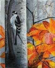 Gisela CLEV (1952) - oiseau en automne