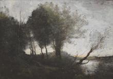 Camille Jean-Baptiste COROT (1796-1875) - Souvenir des Bords du Lac de Garde