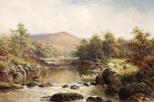 William Henry MANDER (1850-1922) - In the Lledr Valley (On the River Llugwy Wales, Betws-y-Coed