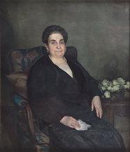 Julio Moisés FERNANDEZ DE VILLASANTE (1888-1968) - Retrato de Dama