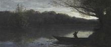 Camille Jean-Baptiste COROT (1796-1875) - Batelier abordant à la Rive, Le Soir