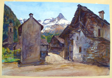 Paul Robert PASSINI (1881-1956) - Sonogno Valle Verrasca Switzerland