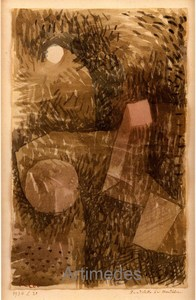Paul KLEE (1879-1940) - Fundstelle im Mondschein, 1934