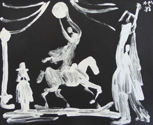 Pablo PICASSO (1881-1973) - The Circus: Horsewoman, Clown and Pierrot, from the Suite 34