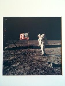 N.A.S.A. (XX-XXI) - Aldrin beside American flag on the moon