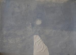 Antoni CLAVÉ (1913-2005) - Gaufrages Sur Fond Bleu