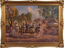 Zygmunt ROZWADOWSKI (1870-1950) - Four horses