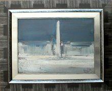 """Fermin AGUAYO (1926-1977) - """"Paris - La place de la Concorde & l'obélisque"""""""