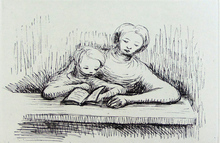 Henry MOORE (1898-1986) - Reading Lesson