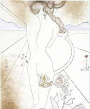 Salvador DALI (1904-1989) - Nu a la Jarretiere (Nude with Garter)