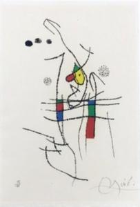 Joan MIRO (1893-1983) - La Spirale, Pl.10 extrait de 'Miranda et la Spirale'