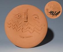 Pablo PICASSO (1881-1973) - Visage au masque à chevrons