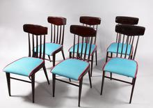 Giò PONTI (1891-1979) - charming Six Dining Chairs Attributed to Gio Ponti italy