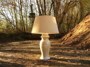 Tommaso BARBI (XX) - Ceramic Ginger Jar Table Lamp