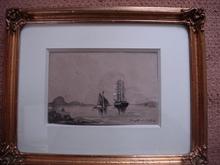 Johan-Barthold JONGKIND (1819-1891) - bateaux sur l'estuaire