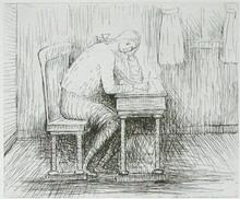 Henry MOORE (1898-1986) - Girl Doing Homework I