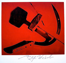 "Andy WARHOL (1928-1987) - Andy Warhol, ""Hammer and Sickle"" Hand Singed Print"