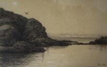 Charles François DAUBIGNY (1817-1878) - Côte rocheuse à Villerville