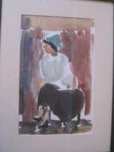 Zdravko TROSELJ (1922) - Girl with green hat