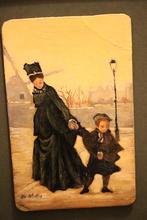 "Giuseppe DE NITTIS (1846-1884) - Giuseppe DE NITTIS  ""La mère et son enfant"""