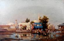 Pietro DE FRANCISCO (1873-1969) - Scena mediorientale (probabilmente Tunisia)