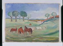 Giuseppe CESETTI (1902-1990) - Paesaggio Maremmano