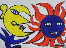 Alexander CALDER (1898-1976) - Sun and Moon
