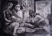 Pablo PICASSO (1881-1973) - Four Nude Women and a Sculpted Head