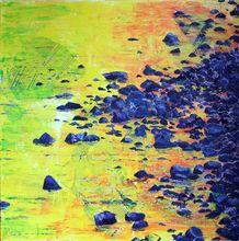 Gisela CLEV (1952) - soleil d'automne sur riviere