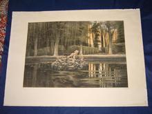 Paul GIRARDET (1821-1893) - Le parc et son bassin