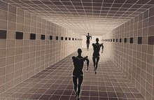 Victor VASARELY (1906-1997) - Perspective  (1986)