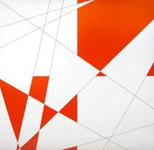 François MORELLET (1926) - Pi & Plis (Pi & Fold), (Red)