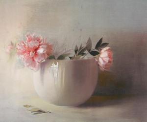 Doriano SCAZZOSI (1960) - Peonie in vaso bianco