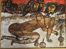 Théo TOBIASSE (1927-2012) - huile et encre sur panneau isorel