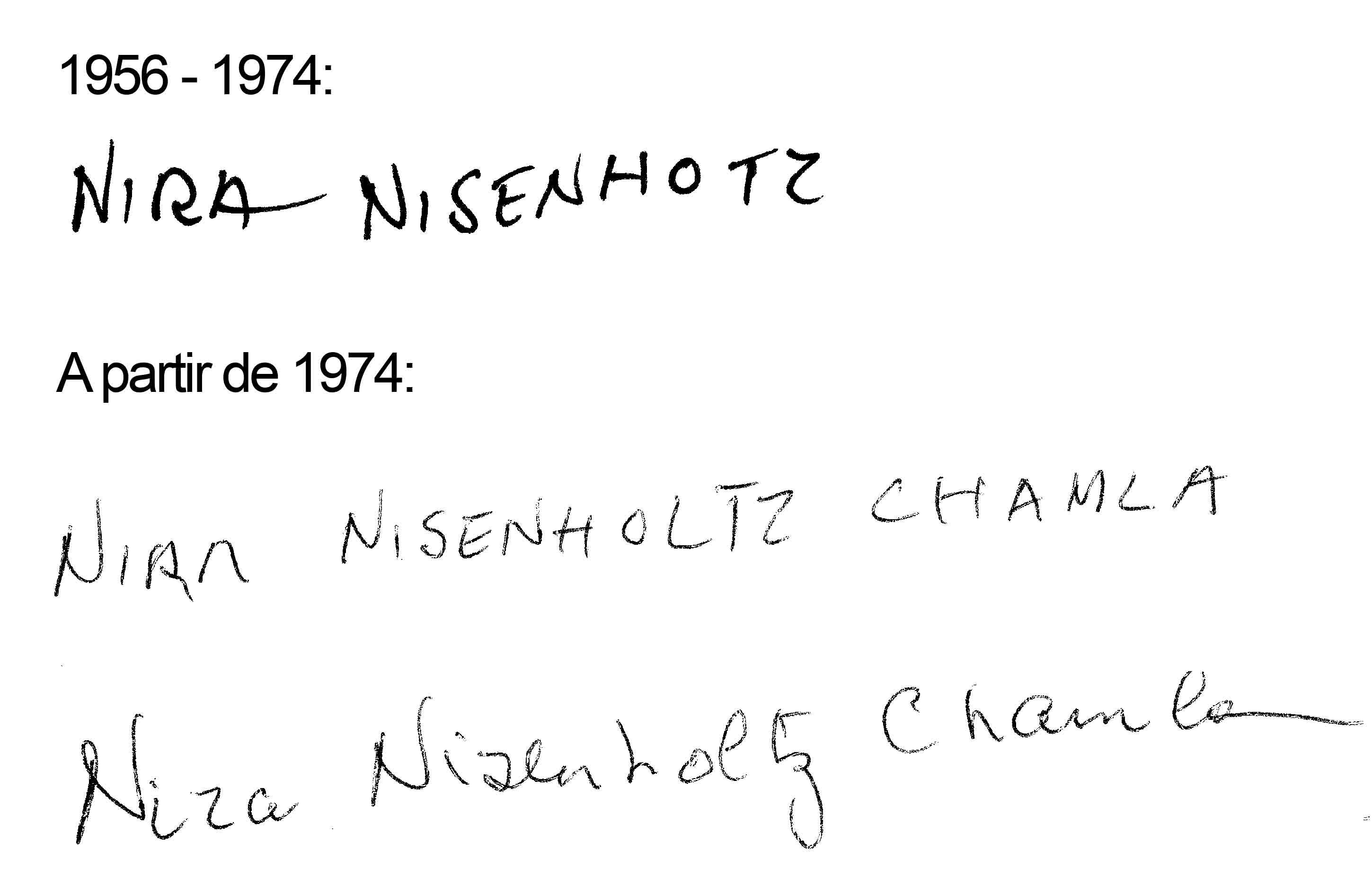 Nira NISENHOLTZ-CHAMLA  [ 1937 ]