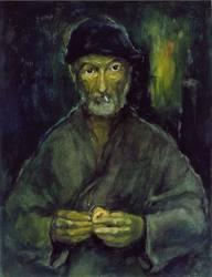 Le clochard (autoportrait)