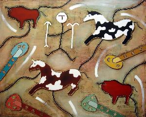 Cavalli e bisonti