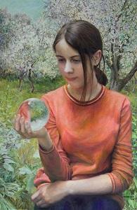 Girl with cristal ball