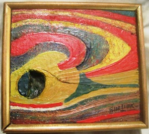 David BURLIUK - Gemälde - Miniabstract