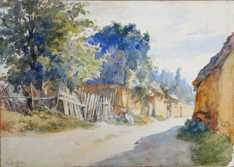 René Louis CHRÉTIEN - Dibujo Acuarela