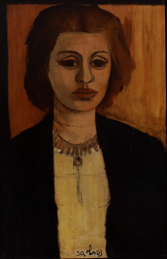 Naftali BEZEM - Painting - Portrait of the artist's wife