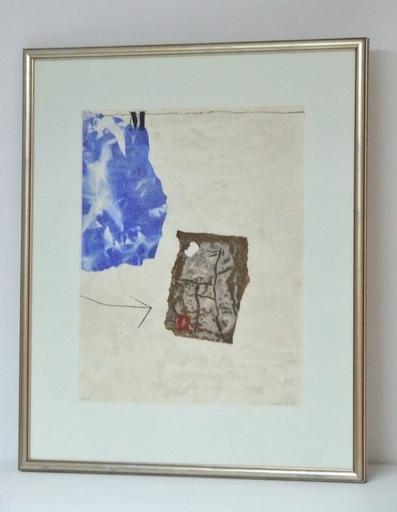 James COIGNARD - Grabado - Perturbation du blanc, 1981 (M bleu)