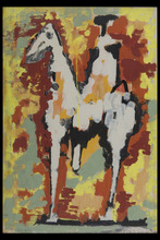Marino MARINI - Pintura - Figura Equestre II