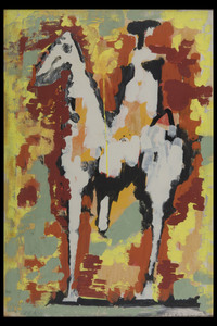 Marino MARINI - Gemälde - Figura Equestre II