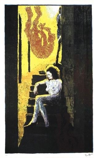 约尔格·伊门多夫 - 版画 - Treppenakt