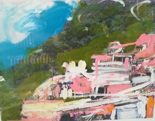 Mario SCHIFANO - Pintura - The making off Rio de janeiro