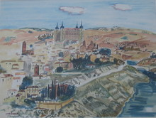 Yves BRAYER - Drawing-Watercolor - TOLEDE 72