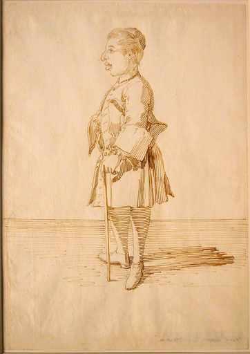 Pier Leone GHEZZI - Drawing-Watercolor - Abate Giustiniani
