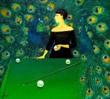 "Tatjana PALCUKA - Painting - ""Spele"" (Game)    (Cat N° 5460)"